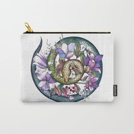 Snake and flowers Carry-All Pouch