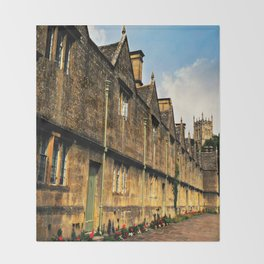 The Almshouses of Chipping Campden Throw Blanket