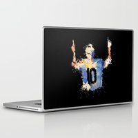 messi Laptop & iPad Skins featuring Lionel Messi Celebration by DanielBergerDesign