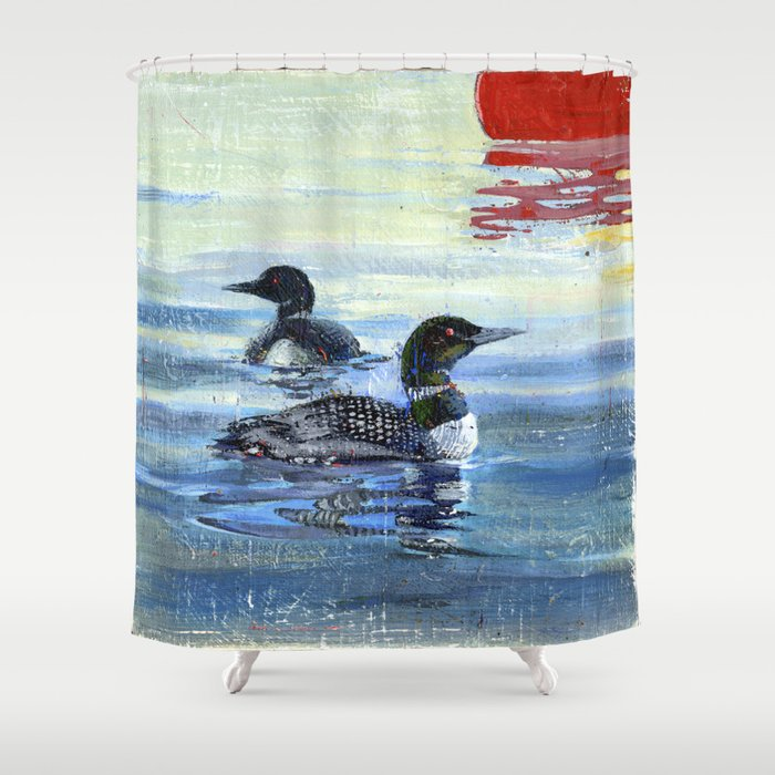 Loons Shower Curtain By Philartguy