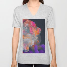 Orage (Colorful clouds in the sky III) Unisex V-Neck
