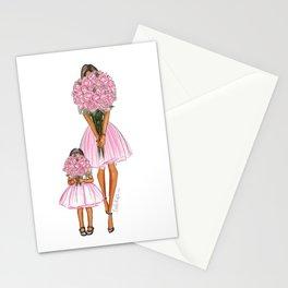Happy Mother's Day little girl dark hair dark skin Stationery Cards