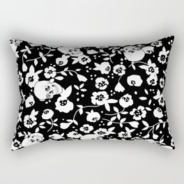 Skull Flowers Rectangular Pillow