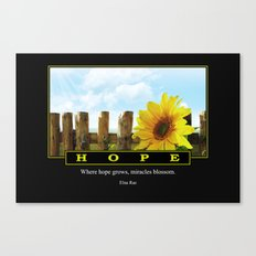 Where Hope Grows Canvas Print