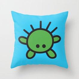 Green Monster Throw Pillow