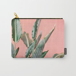 Palm on pink   Botanical photography print   Spain travel photo art Carry-All Pouch