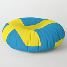 Flag of Sweden - Authentic (High Quality Image) Floor Pillow