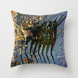 Josephine Baker Graffiti in the French Riviera Throw Pillow