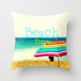 Beach time #3 Throw Pillow