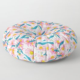 Pink Floral || Floor Pillow