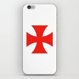 templar knights cross iPhone Skin