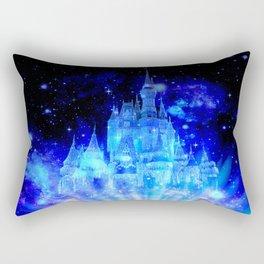 Celestial Palace Enchanted Castle Blue pink Rectangular Pillow