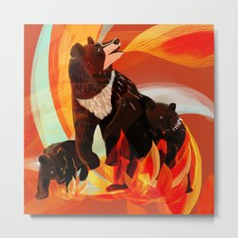 Taiga on Fire Metal Print