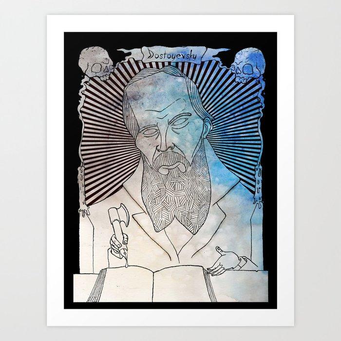 Fyodor Dostoyevsky art print for college life