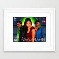 vampire diaries Framed Art Prints featuring The Vampire Diaries by Don Kuing