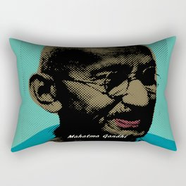 Mahatma Gandhi Pop Art Pictures Rectangular Pillow