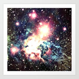 Fox Fur Nebula : Deep Pastels Galaxy Art Print