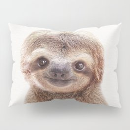 Baby Sloth, Baby Animals Art Print By Synplus Pillow Sham
