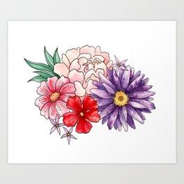 Springtime Floral Art Print