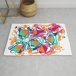 Abstract paint coloruful orange Rug
