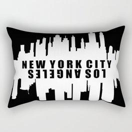 New York City / Los Angeles Skyline Rectangular Pillow