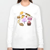 food Long Sleeve T-shirts featuring food by Cinna Welch