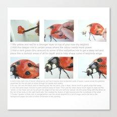 Art Demo on a Cushion - Ladybug Canvas Print