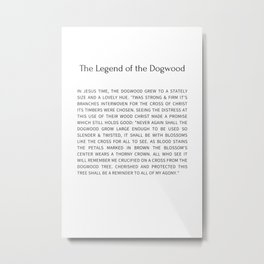 The Legend Of The Dogwood 8 Metal Print