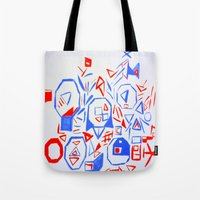 aliens Tote Bags featuring Aliens by KalinaM