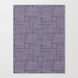 Criss Cross Lavender Maze Vector Pattern Canvas Print