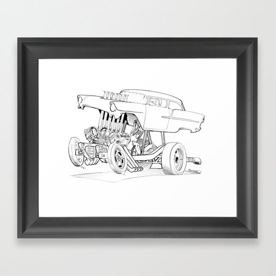Gasser Chevy Framed Art Print