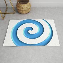 Blue Spiral Rug