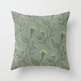 Dazed - Floral Pattern Throw Pillow