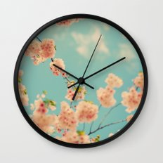 Splash of Pink Wall Clock