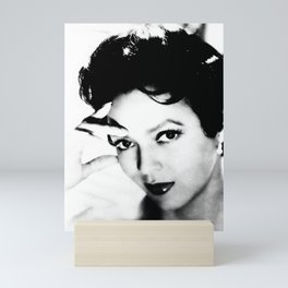 dorothy dandridge black & white photo Mini Art Print