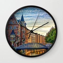 Hamburg Architecture Wall Clock