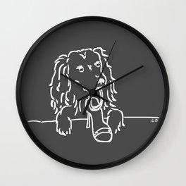 City Dogs: Shoe Diva {Truffle} Wall Clock