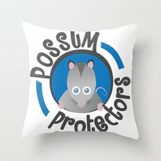 Possum Protectors Throw Pillow