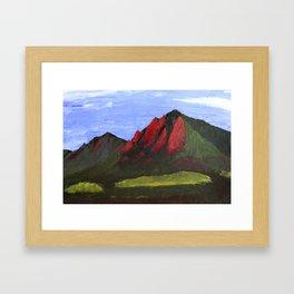 Flatirons Framed Art Print