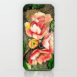 Flower Mixed-Media iPhone Skin