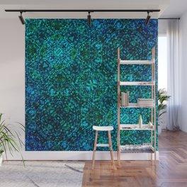 AZURE - watery crystal pattern Wall Mural