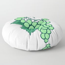 Abstract bunch of grapes Floor Pillow