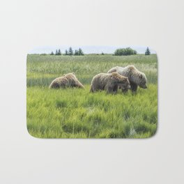 A Mother and Her Two Cubs, No. 2 Bath Mat