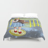 thrones Duvet Covers featuring Yellow brick road by Laura Nadeszhda