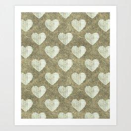 Hearts Motif Pattern Art Print