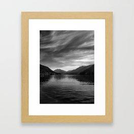 The eye at Lake Crescent Framed Art Print