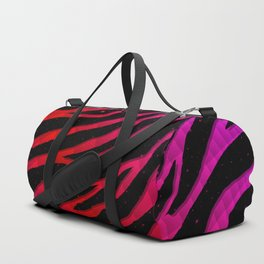 Ripped SpaceTime Stripes - Pink/Red Duffle Bag