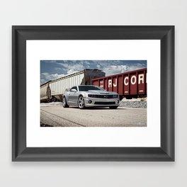 Camaro SS Train Yard Framed Art Print