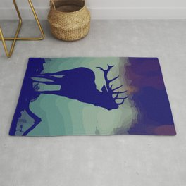 Belling/Bellowing/Howling Stag/Deer / fallcollection / holidays silhoutte / scandinavian style Rug