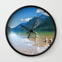 watchmen Wall Clocks featuring Watchmen of the Lake by Doug Burke